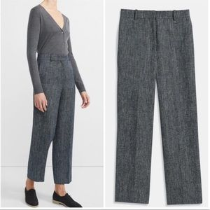 Theory New High Waisted Straight Pants Navy